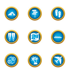 Ascent icons set flat style vector