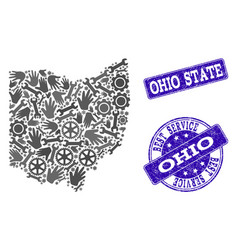 Best service composition of map of ohio state and vector