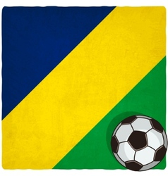 Brazil soccer old background vector image