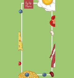 Breakfast menu template vector