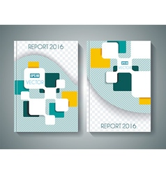 brochure template design vector image