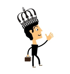 Businessman standing in the crown vector