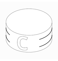 Captain armband icon isometric 3d style vector image