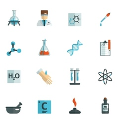 Chemistry Icons Flat vector