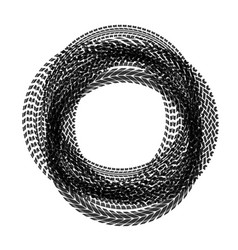 circle tire tracks vector image