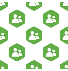 Contacts icon pattern vector image