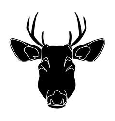 cute reindeer cartoon vector image vector image
