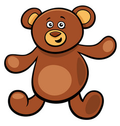 cute teddy bear cartoon toy character vector image