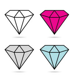 Diamond expensive fashion set vector