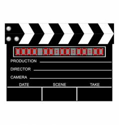 digital closed clapboard vector image