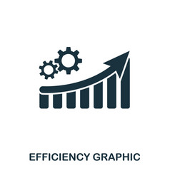 Efficiency increase graphic icon mobile apps vector