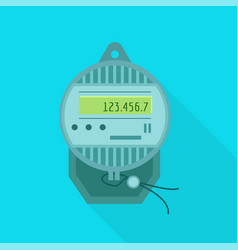 electric meter icon flat style vector image