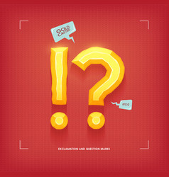 exclamation and question marks golden jewel vector image