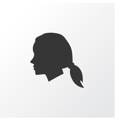 Female icon symbol premium quality isolated vector
