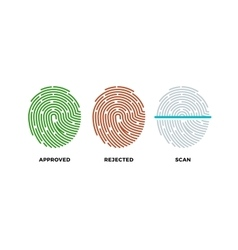 Fingerprint thumbprint icons set Approved vector image