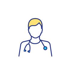 Frontline healthcare workers rgb color icon vector