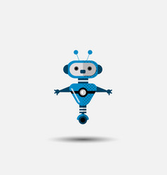 Funny robot icon in flat style isolated on vector