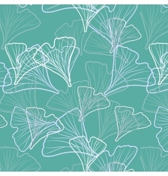 Ginkgo biloba pattern seamless vector