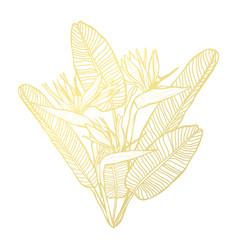 Golden floral decoration vector