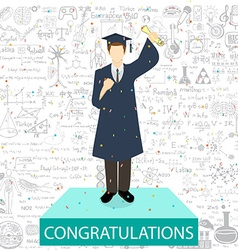 Graduation student vector
