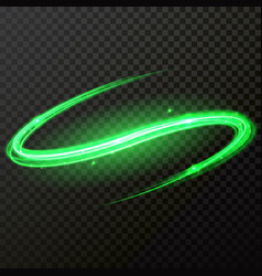 Green glitter comet particle light twirl vector