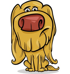 Hairy dog cartoon vector