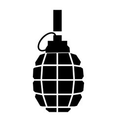 Hand grenade simple icon vector image