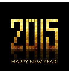 Happy New Year 2015 - with golden numbers vector image