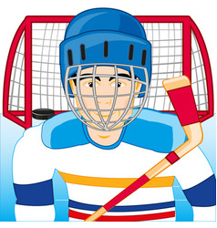 hockey player on field vector image