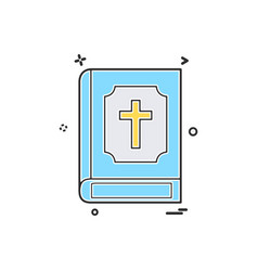 holy bible icon design vector image