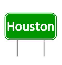 Houston green road sign vector