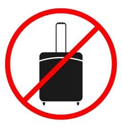 Icon ban luggage vector image