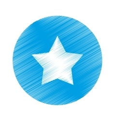 isolated star symbol vector image