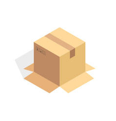 isometric cardboard icon cartoon package box vector image