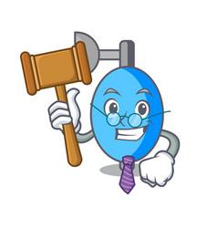 Judge ambu bag mascot cartoon vector