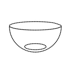 Kitchen bowl dishware empty vector