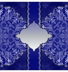 Lace frame with ethnic ornament vector