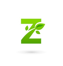 Letter Z eco leaves logo icon design template vector