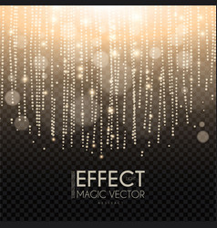 Magic light bokeh and fog effect abstract vector