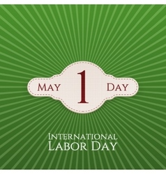 May Day realistic festive Label vector