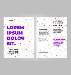 Minimal poster template design vector