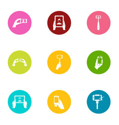 mobile pay icons set flat style vector image