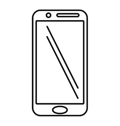 Mobile phone screen technology outline vector