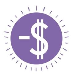 money symbol isolated icon design vector image