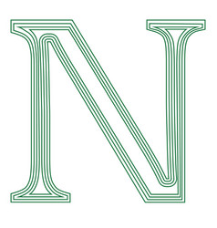 Namecoin internet virtual cryptocurrency symbol vector