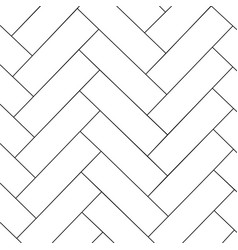 outline parquet pattern vector image
