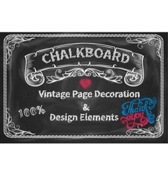 Page Decoration and Design Elements chalkboard vector