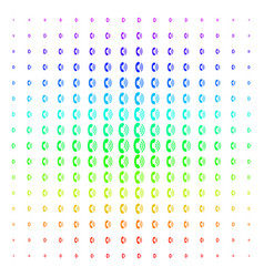 Phone ring icon halftone spectral pattern vector