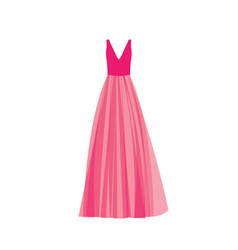 Pink prom dress vector