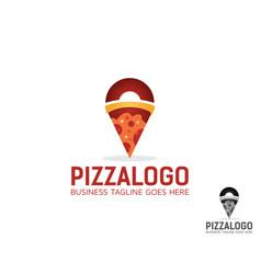 Pizza point logo design vector